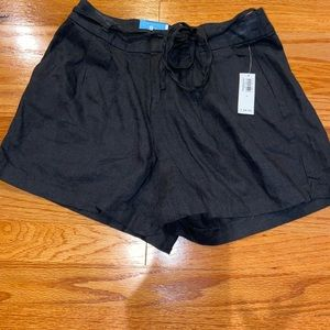 Old Navy Black High Rise Linen short